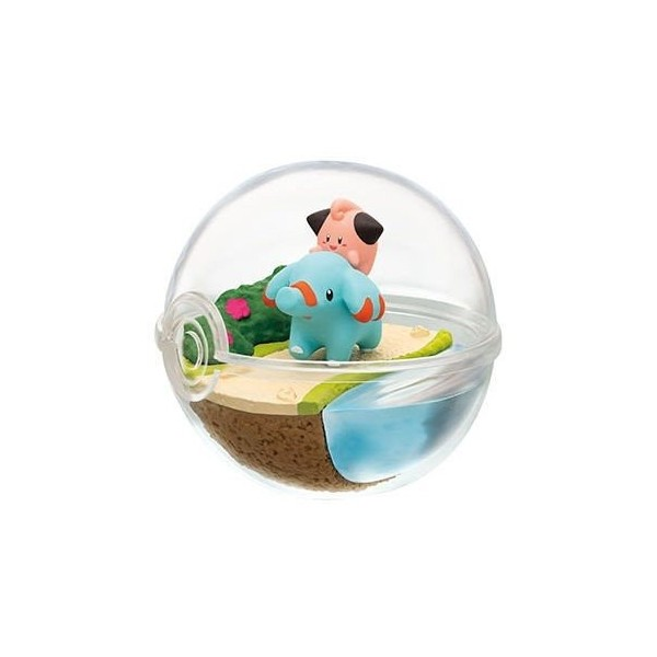 Phanpy & Mélofée Terrarium Pokemon Collection 7