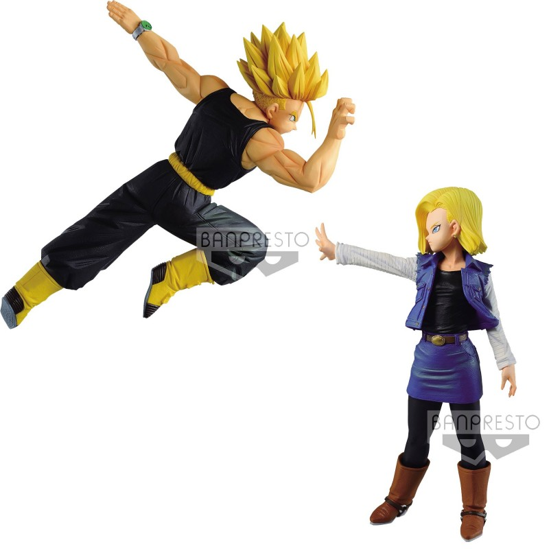 Pack figurines Android 18 et Trunks Match Makers