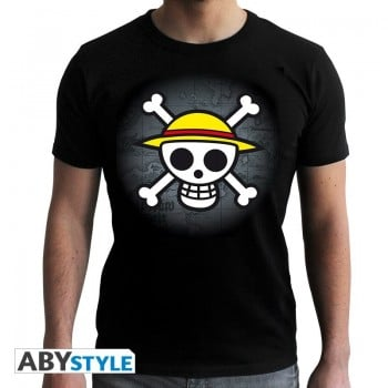 T-Shirt Skull With map (Homme) One Piece