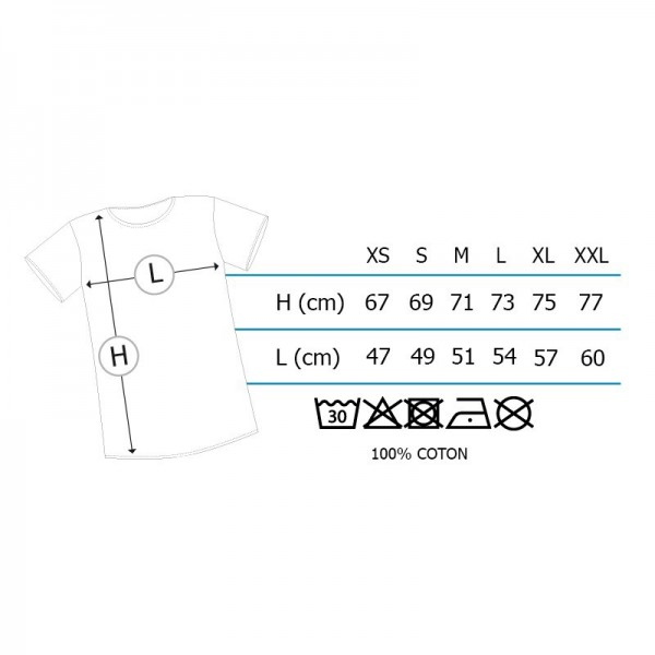 Taille T-Shirt Gohan (Homme)